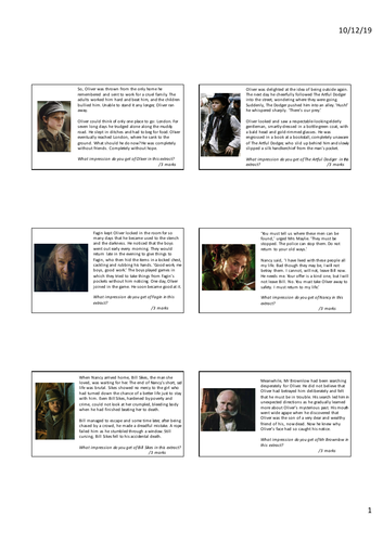 Year 6 - Character Inferences - Oliver Twist
