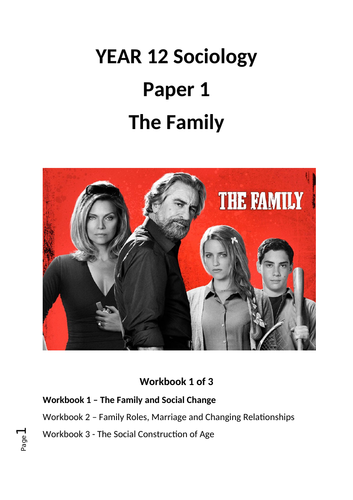 CIE AS Sociology 'The Family Workbook' 1 of 3