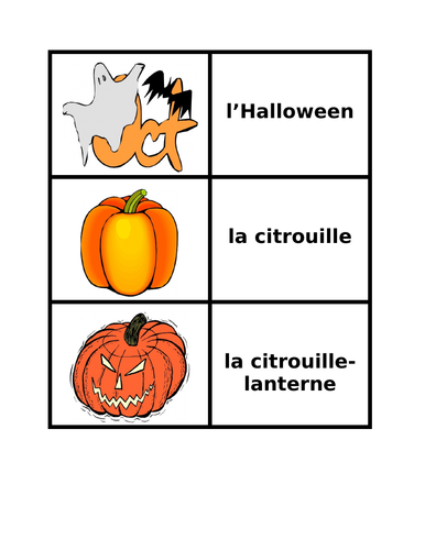 Halloween in French Concentration Games