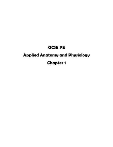 GCSE PE Skeletal System worksheets / exam questions (Edexcel)