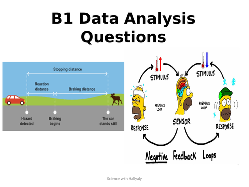 B1 AQA data analysis questions