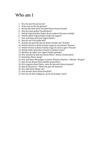 GCSE German Speaking Questions  + Recordings