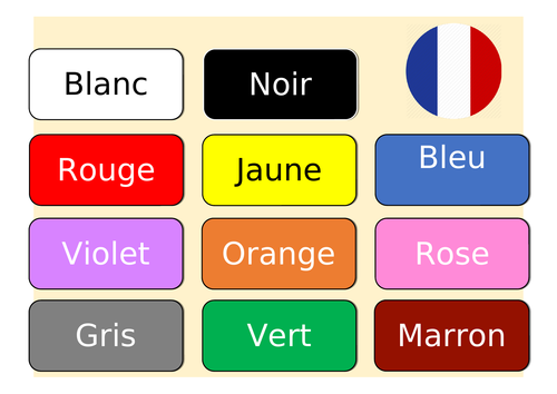 Colours  French - Les couleurs
