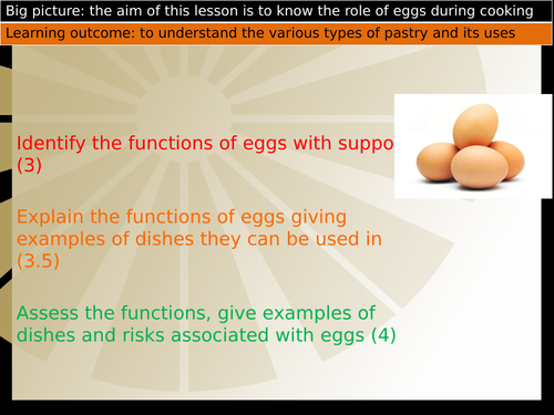 Function of eggs