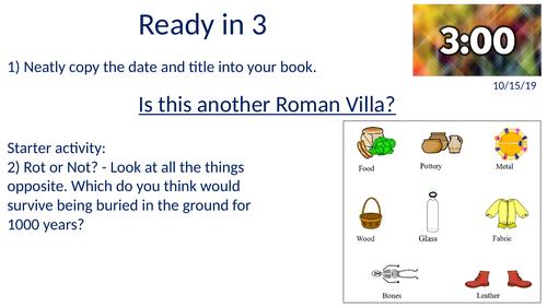 KS3 History Y7 The Romans - A Roman Villa - or is it?