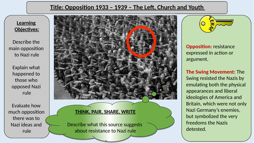 Opposition to Nazi Rule - Left, Church and Youth - OCR J411