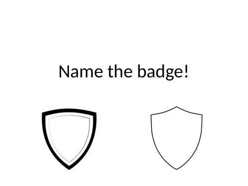 Name the Badge Quiz