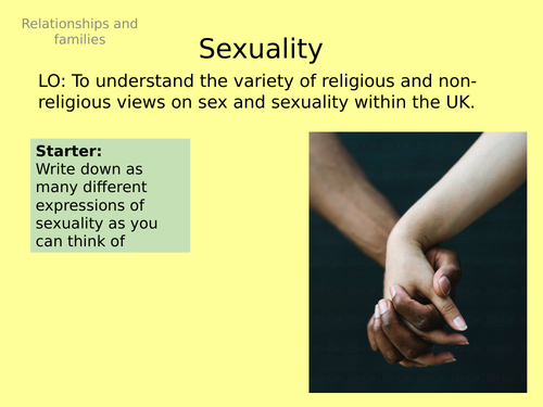 AQA GCSE RS - 1 Sexuality - Theme A Relationships and Families