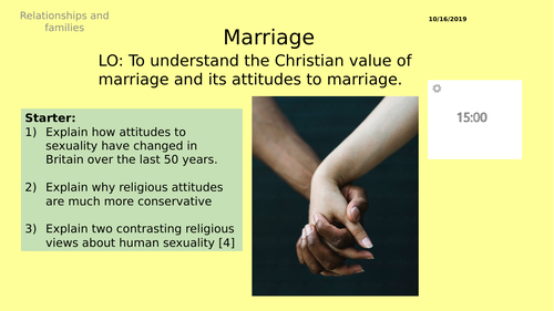 AQA GCSE RS -2  Attitudes to Sex - Theme A Relationships and Families