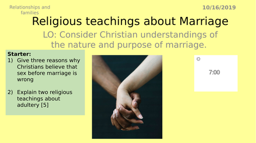 AQA GCSE RS - 4 Marriage- Theme A Relationships and Families
