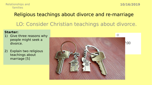 AQA GCSE RS - 5 Divorce - Theme A Relationships and Families