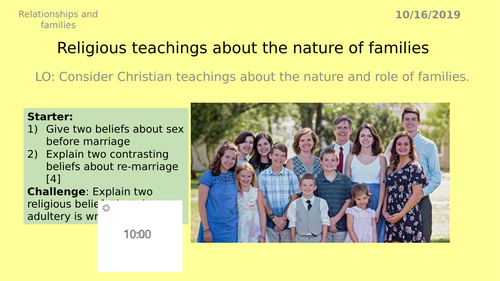 AQA GCSE RS - 6 Families - Theme A Relationships and Families