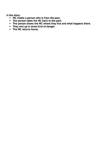 Stone Age Boy English/Literacy Plan and Resources