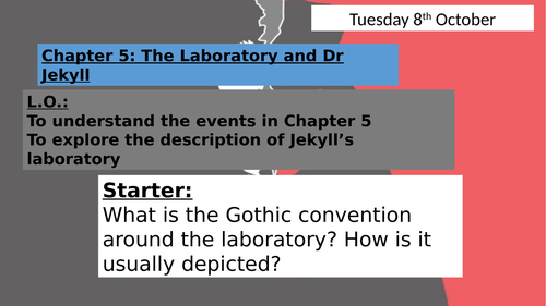 The Strange Case of Dr Jekyll and Mr Hyde:  Incident of the Letter (Chapter 5)