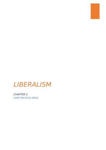 A-Level Politics Liberalism