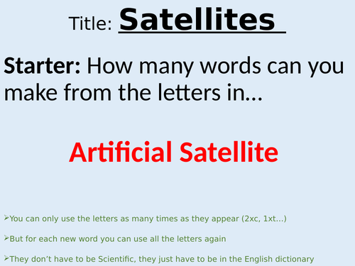 KS3 Satellites