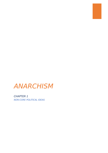 A-Level Politic Anarchism