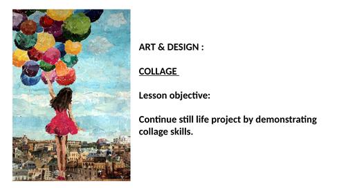 KS3 Art collage