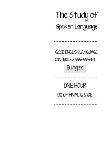 THE STUDY OF SPOKEN LANGUAGE