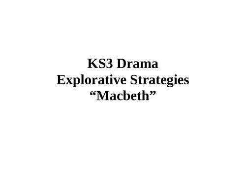 Macbeth Drama Scheme of Work