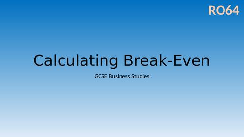 Calculating Break-Even