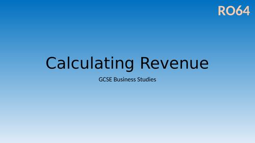 Calculating Revenue