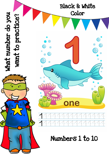 Colouring Book - Numbers