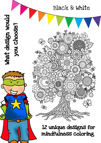 Mindfulness Colouring - Flowers