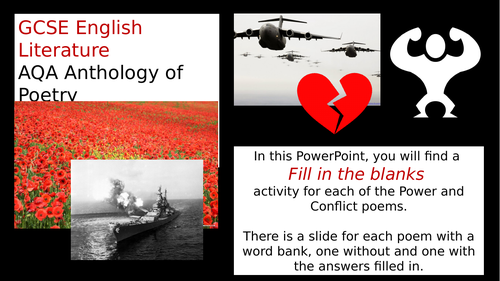 AQA Power & Conflict Fill in the Blanks