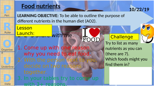 Food and Digestion WHOLE UNIT - Exploring science (Year 8)