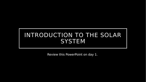 FINAL INTRO. TO Solar System
