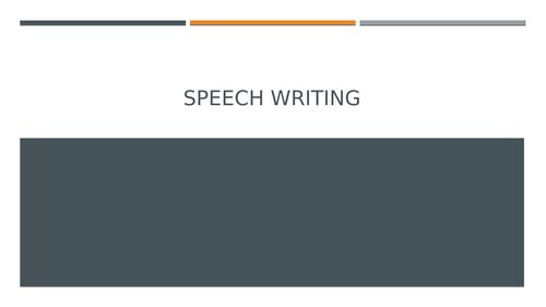 Speech Writing:Functional Skills: New Reform
