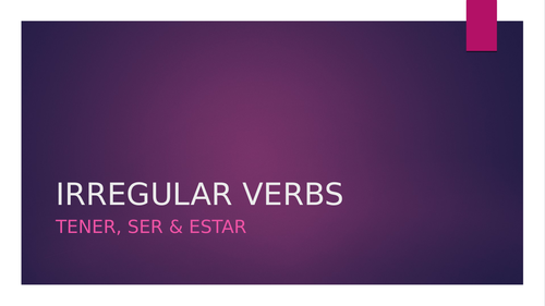 SER / ESTAR / TENER powerpoint with exercises AND ANSWERS