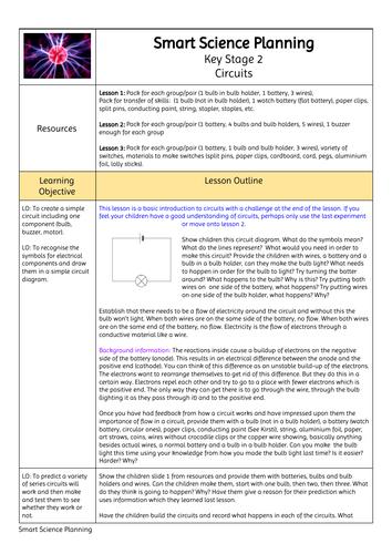KS2 Circuits Planning