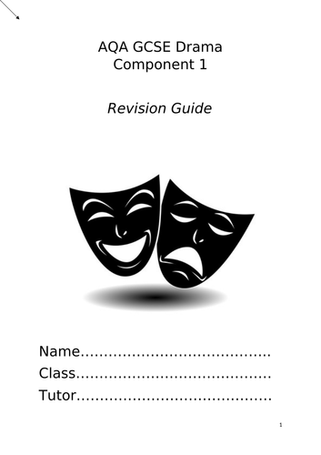 AQA GCSE Component 1 revision booklet
