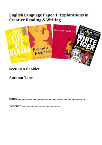 AQA English Language Paper 1 Other Cultures Extracts and Questions Booklet