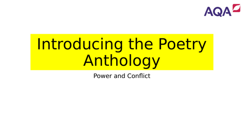 Introduction to AQA Power and Conflict Poetry Anthology with key quotes, analysis, context...