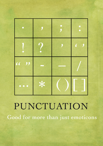 Punctuation fun display poster a4 size