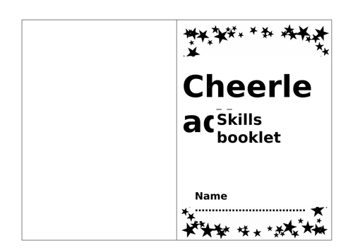 Cheerleading Skills Booklet