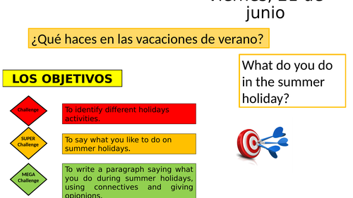 Summer Holidays - Near future tense