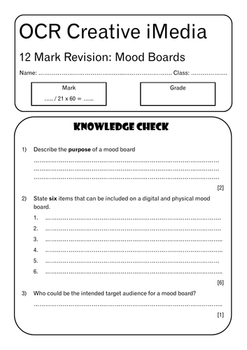 R081 12 Mark Revision
