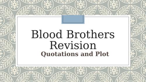 GCSE Literature -   Blood Brothers-BIG revision quiz