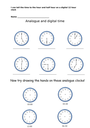 Analogue to digital time