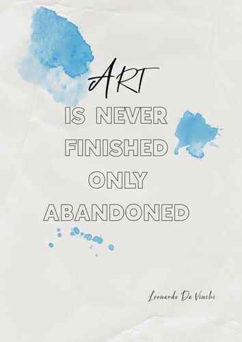 A3 Art poster Da Vinchi Quote