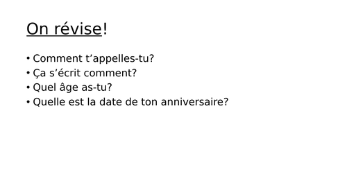 Les animaux Year 7