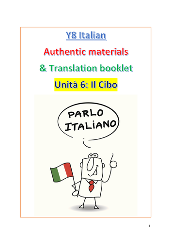 NEW KS3 ITALIAN RESOURCES (AUTHENTIC MATERIALS & TRANSLATIONS)