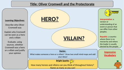 Oliver Cromwell and the Protectorate