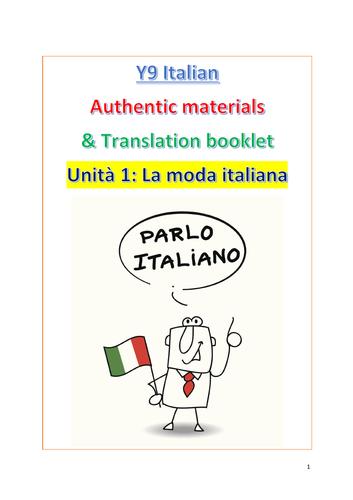 NEW KS3 ITALIAN RESOURCES (AUTHENTIC MATERIALS & TRANSLATIONS)