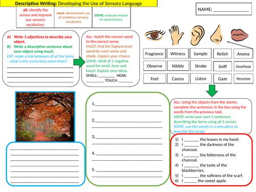 Autumn Creative Writing Lesson - Sensory Writing