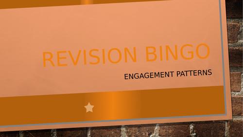 GCSE PE Engagement Patterns REVISION BINGO!